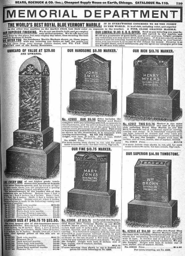 Tombstones-sears-catalogue